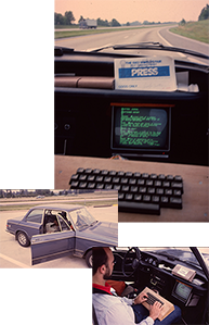 Softrek collage - the first computer-based mobile editorial office