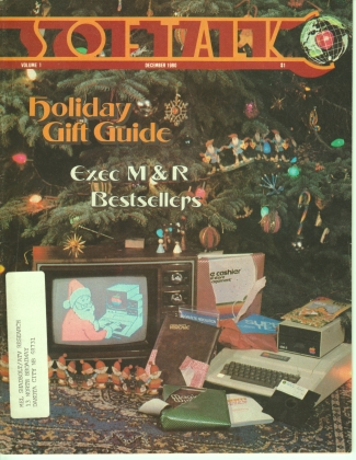 V1.04 Softalk Magazine cover, December 1980