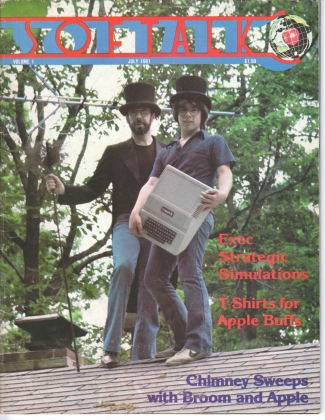 V1.11 Softalk Magazine cover, July 1981