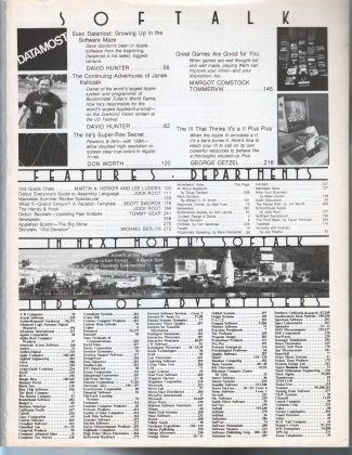 V3.11 Softalk Magazine contents, July 1983