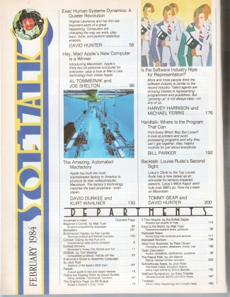 V4.06 Softalk Magazine contents 1, February 1984