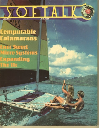 V4.10 Softalk Magazine cover, June 1984