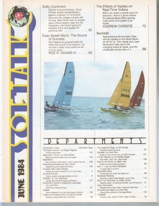 V4.10 Softalk Magazine contents 1, June 1984