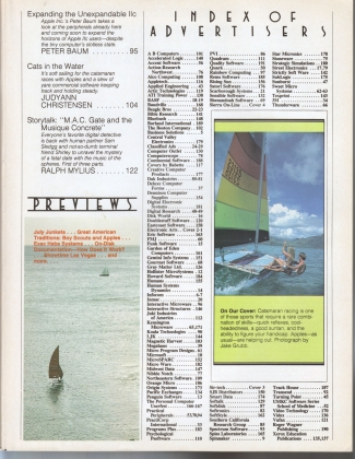 V4.10 Softalk Magazine contents 2, June 1984