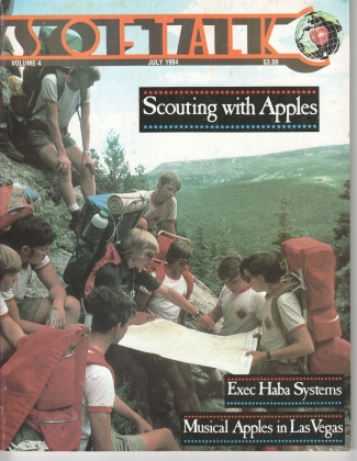 V4.11 Softalk Magazine cover, July 1984