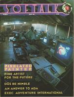 V3.07 Softalk Magazine cover, March 1983
