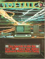 V4.01 Softalk Magazine cover, September 1983