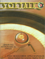 V4.02 Softalk Magazine cover, October 1983