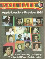 V4.05 Softalk Magazine cover, January 1984