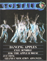 V4.07 Softalk Magazine cover, March 1984