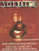 V4.12 Softalk Magazine cover, August 1984